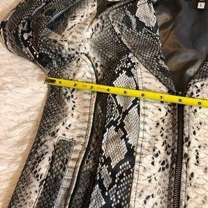 Affliction Jackets & Coats - Affliction faux snakeskin jacket